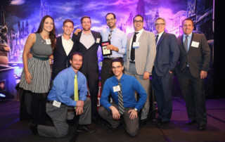 Group shop of Biz Technology Solution's employees after they won the award for 50 Fastest Growing Companies in Charlotte