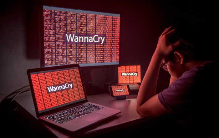 Ransomware attack on multiple devices